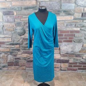 Soft Surrounding wear anywhere faux wrap dress
